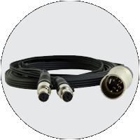 4-pin XLR Male to Dual 4-pin mini-XLR Cable